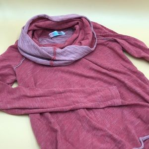 Free People Turtle Neck Pullover in Pink